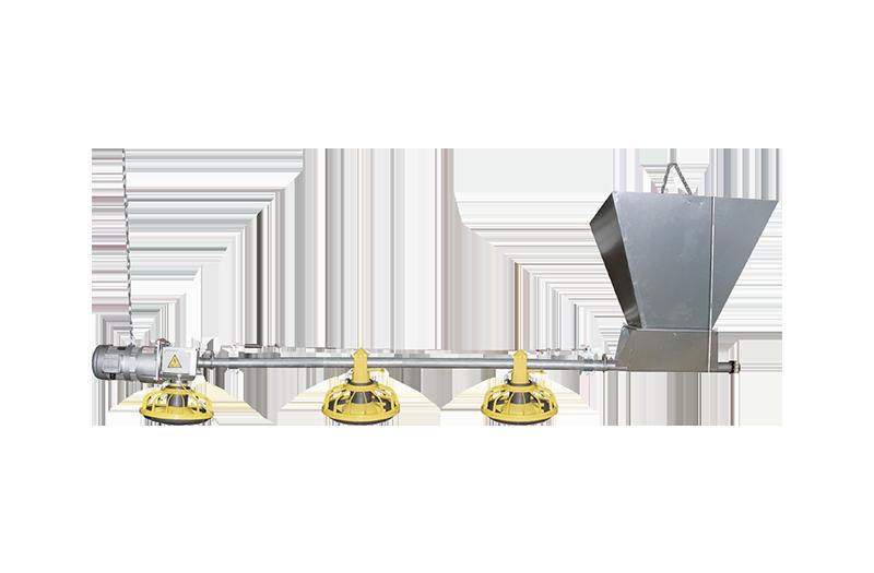 Broiler pan feeding system